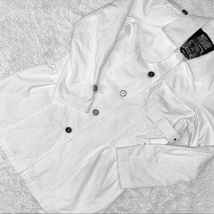 BOGO Millard Fillmore White Cotton Trench Jacket